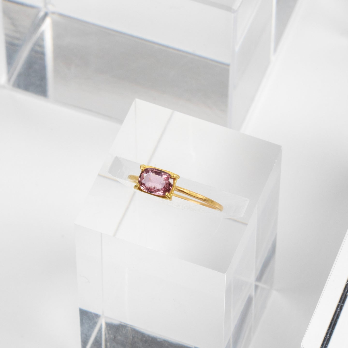 Rosanne Pugliese <br>Mini Pink East-West Sapphire Ring