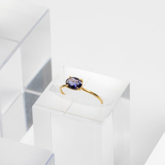 Rosanne Pugliese <br>Mini East-West Tanzanite Ring
