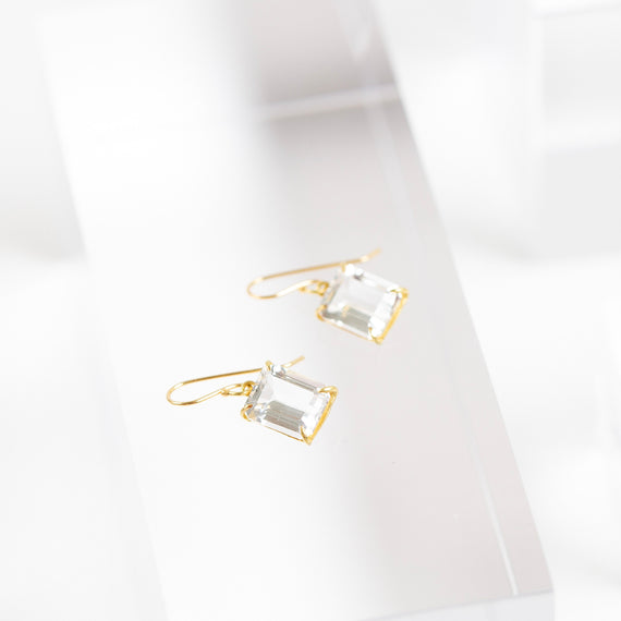 Rosanne Pugliese <br> White Topaz Drop Earrings