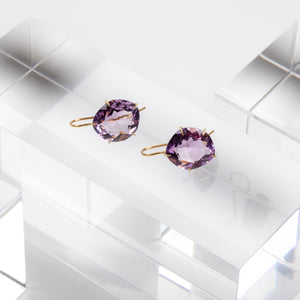 Rosanne Pugliese <br>Violet Amethyst Petal Earrings