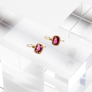 Lola Brooks<br> Pink Tourmaline Cushion Cut Drops