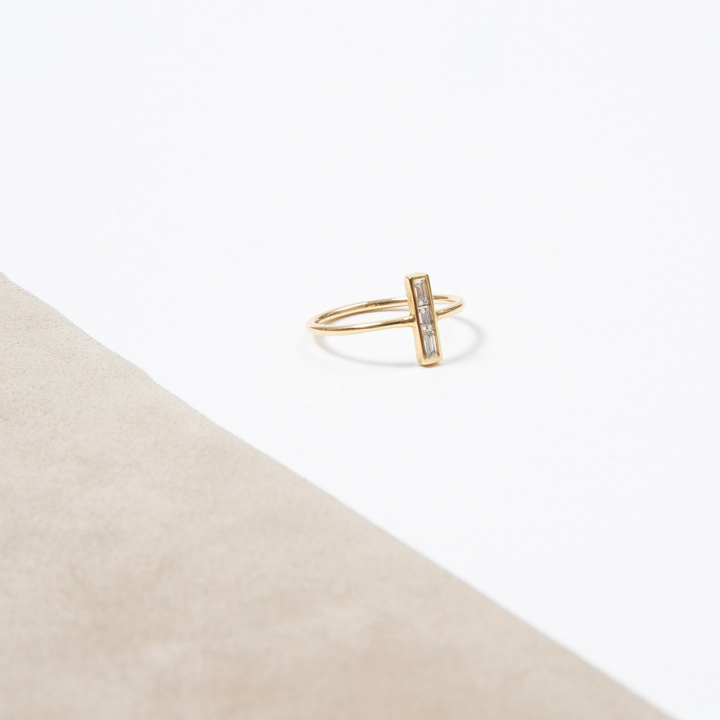 Nina Segal Baguette Bar Up Ring