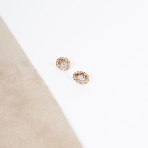 Mirta Tummino Raw Diamond Slice Earrings