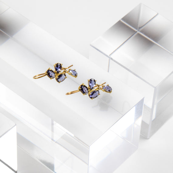 Rosanne Pugliese <br>Iolite Mini Florette Earrings