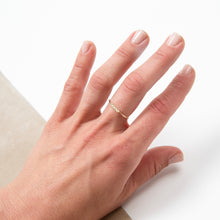 Nina Segal Bar Ring with 5 Diamonds