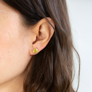 Lola Brooks<br>18K Natural Yellow Diamond Tear Drop Studs
