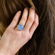 Lola Brooks<br>18K Blue Chalcedony Cushion Ring