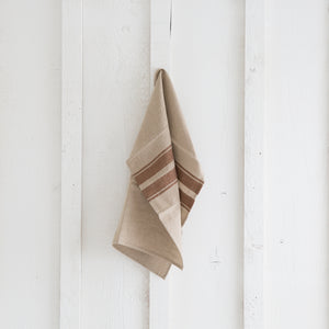 Rust Stripe Napkin and Table Runner