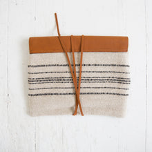 Wool Clutch with Leather Detail