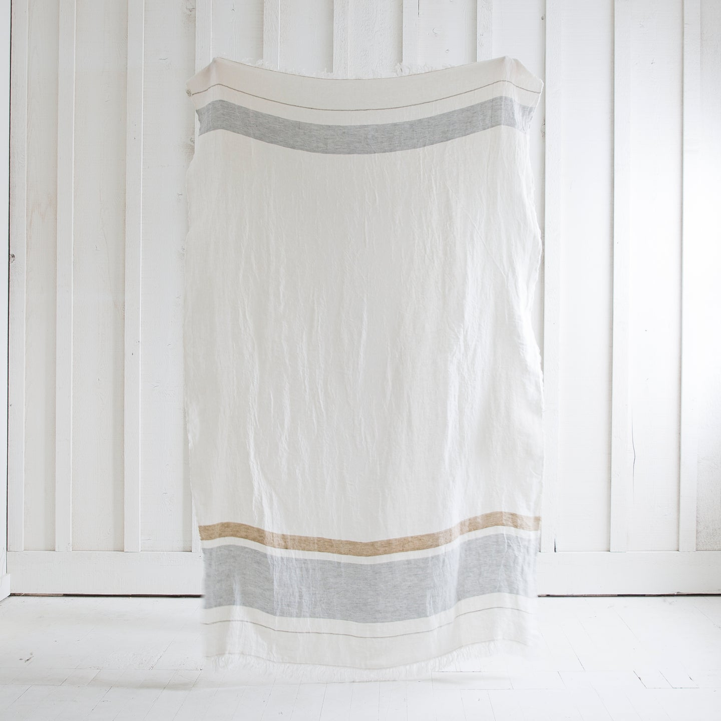 Bright White Linen Towel