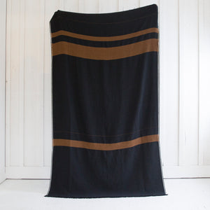 Wool-Linen Stripe Throw