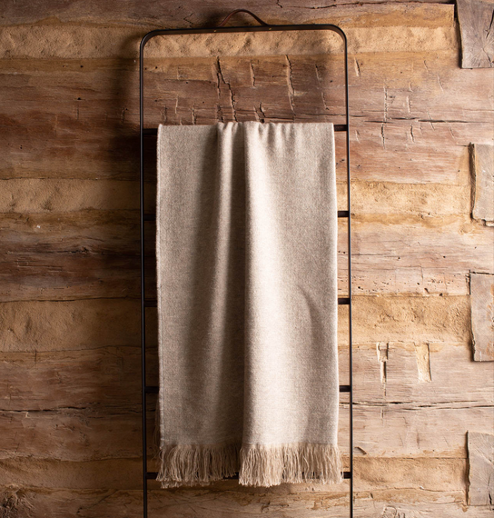 Linen-Alpaca Throw <br> Natural