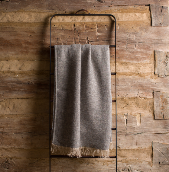 Alpaca-Wool Throw <br> Allen