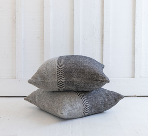 Jules Pillow<br>Black Herringbone