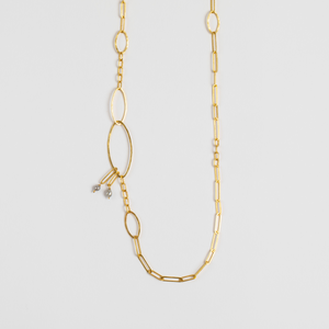 Rosanne Pugliese <br> Grey Diamond Briolette Necklace