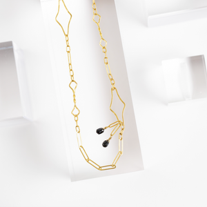 Rosanne Pugliese <br> Black Diamond Briolette Necklace