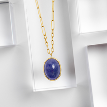 Rosanne Pugliese <br> Tanzanite Cabochon Necklace