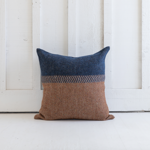 Jules Pillow<br>Rust Herringbone
