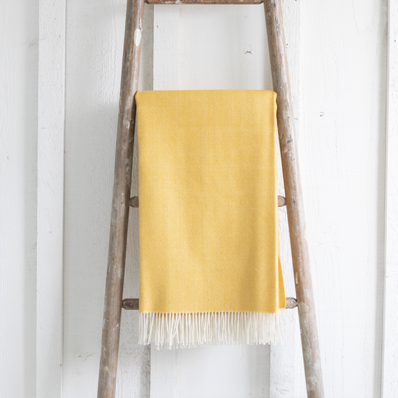 Baby Alpaca Throw <br> Banana Yellow