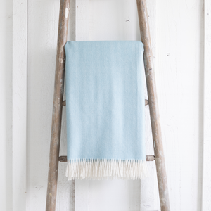 Baby Alpaca Throw <br> Sky Blue