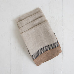 Brown and Black Linen Napkin