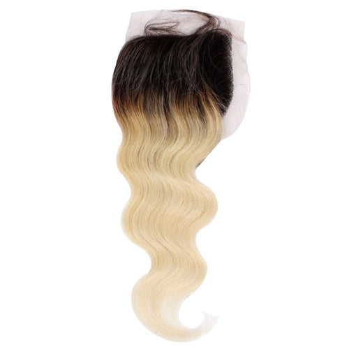 Brazilian Blonde Dark Roots Lace Closure