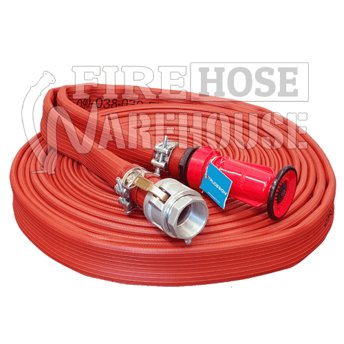 Heavy Duty Canvas Style Lay Flat Hose Kit 38mm I.D. x 30 metres
