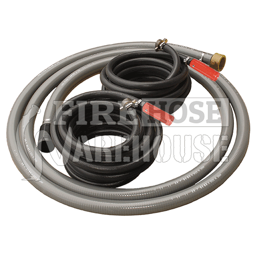 Suction & Delivery Hose Kit 20mm x 10mtr (x2) / 38mm x 4 mtr