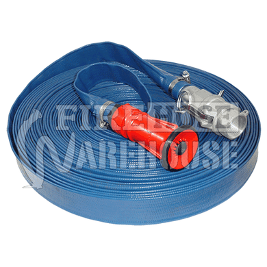 Lay Flat Fire Hose Blue PVC 25mm I.D. x 30mtrs