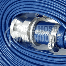 Lay Flat Hose Kit Blue PVC 38mm to 100mm x 20 or 30mtrs
