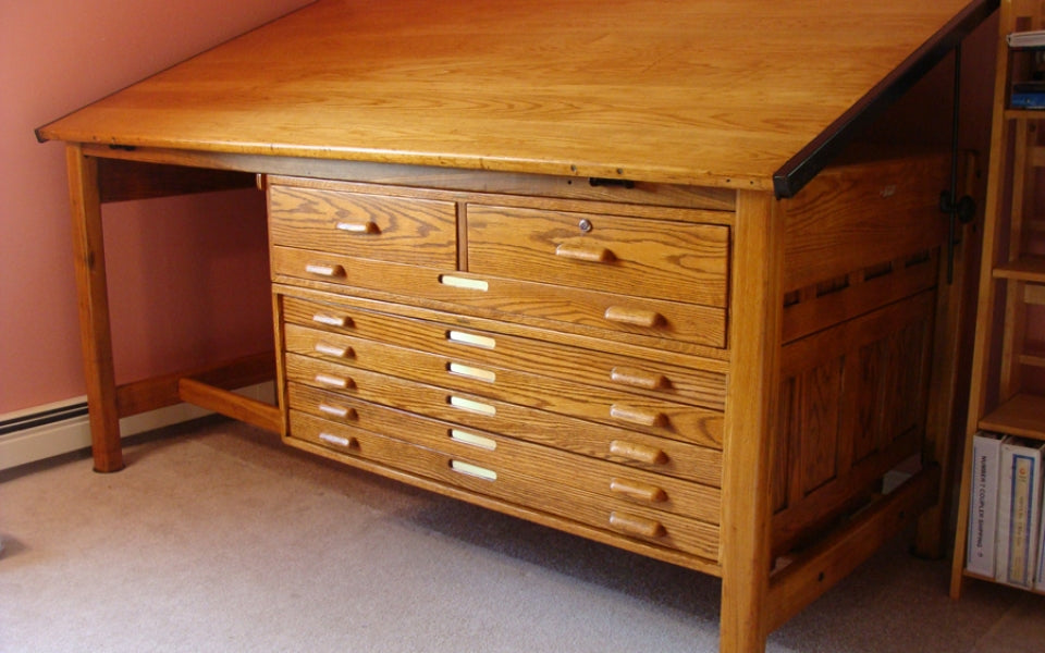 Giving New Life To An Old Hamilton Drafting Table Final
