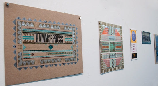 Hammerpress Posters on Display