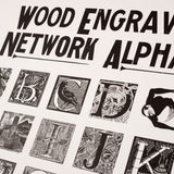 Wood Engravers' Network Large Alphabet