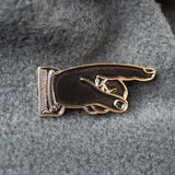 Pointing Hand Lapel Pin