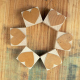 Wood Type Heart