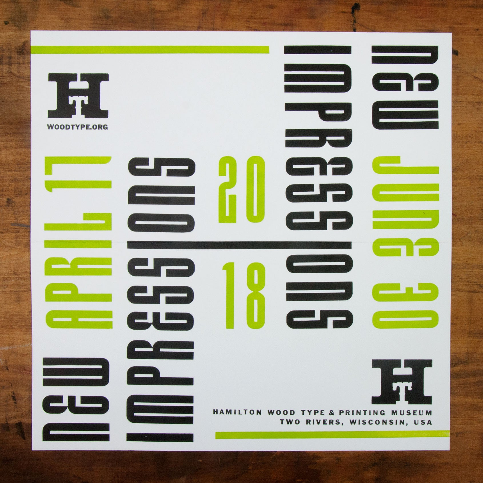 2018 new impressions poster and catalog hamilton wood type museum