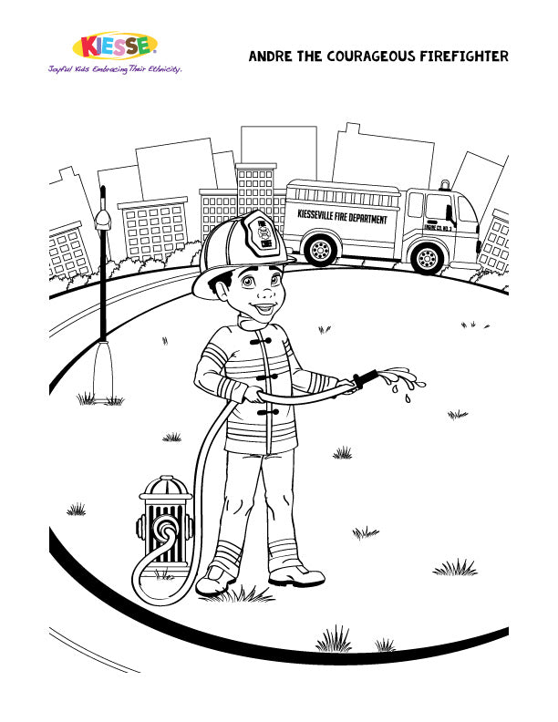 - Andre Firefighter Coloring Page KIESSE