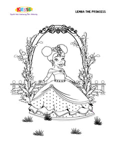 Lemba Princess Coloring Page