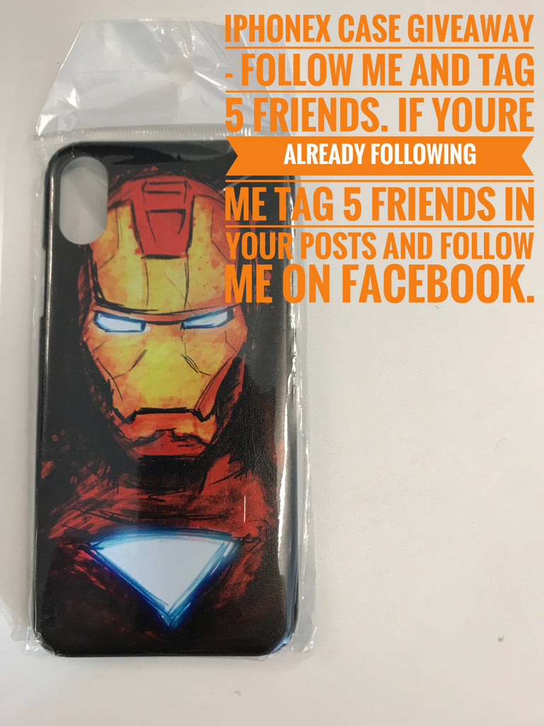 Ironman iPhoneX Case Giveaway from justfro10.com