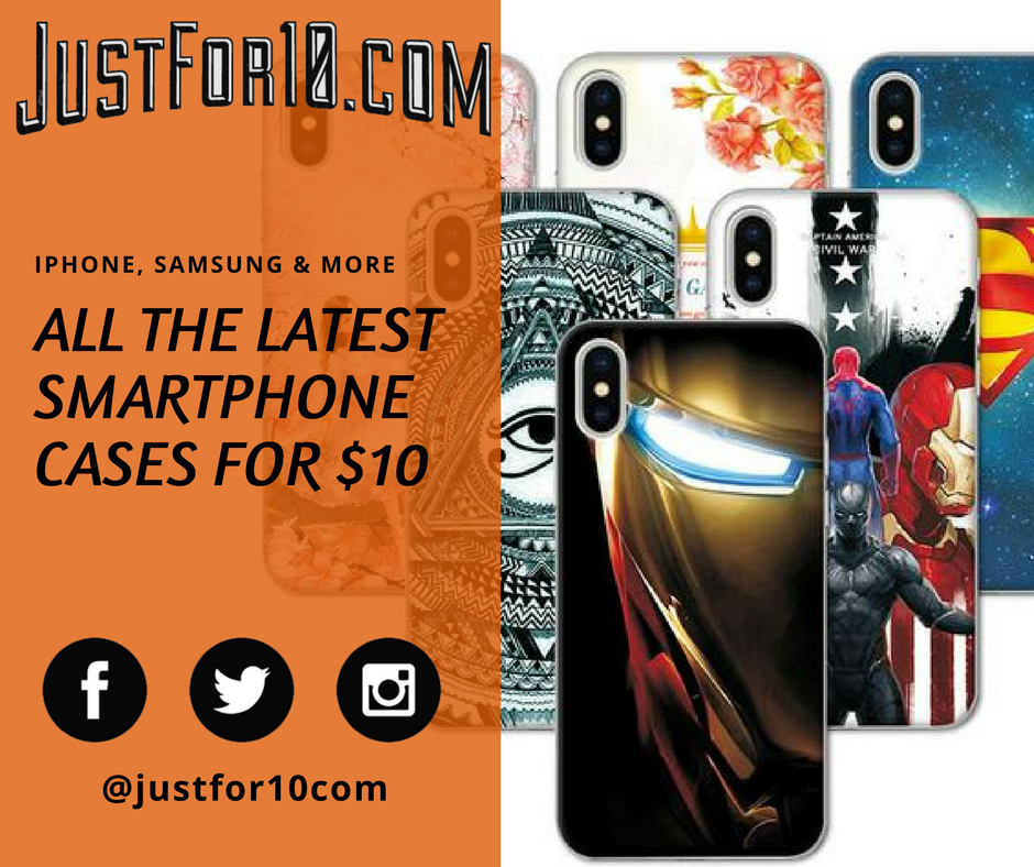 iPhoneX Cases for Black Friday - justfor10.com