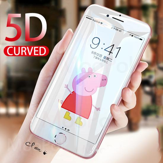 5D Curved Edge Full Cover Screen Protector For iPhone - Justfor10.com