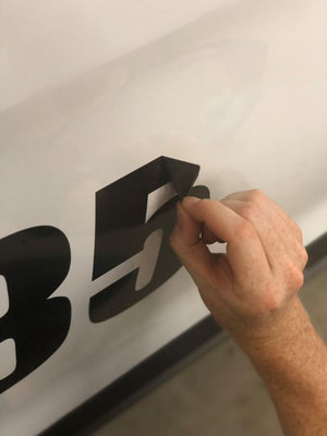 Vinyl number decal removal
