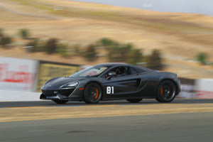 Mclaren with removable Trackarmour vinyl decal numbers