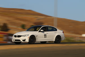 BMW M3 with Removable vinyl number decals from Trackarmour