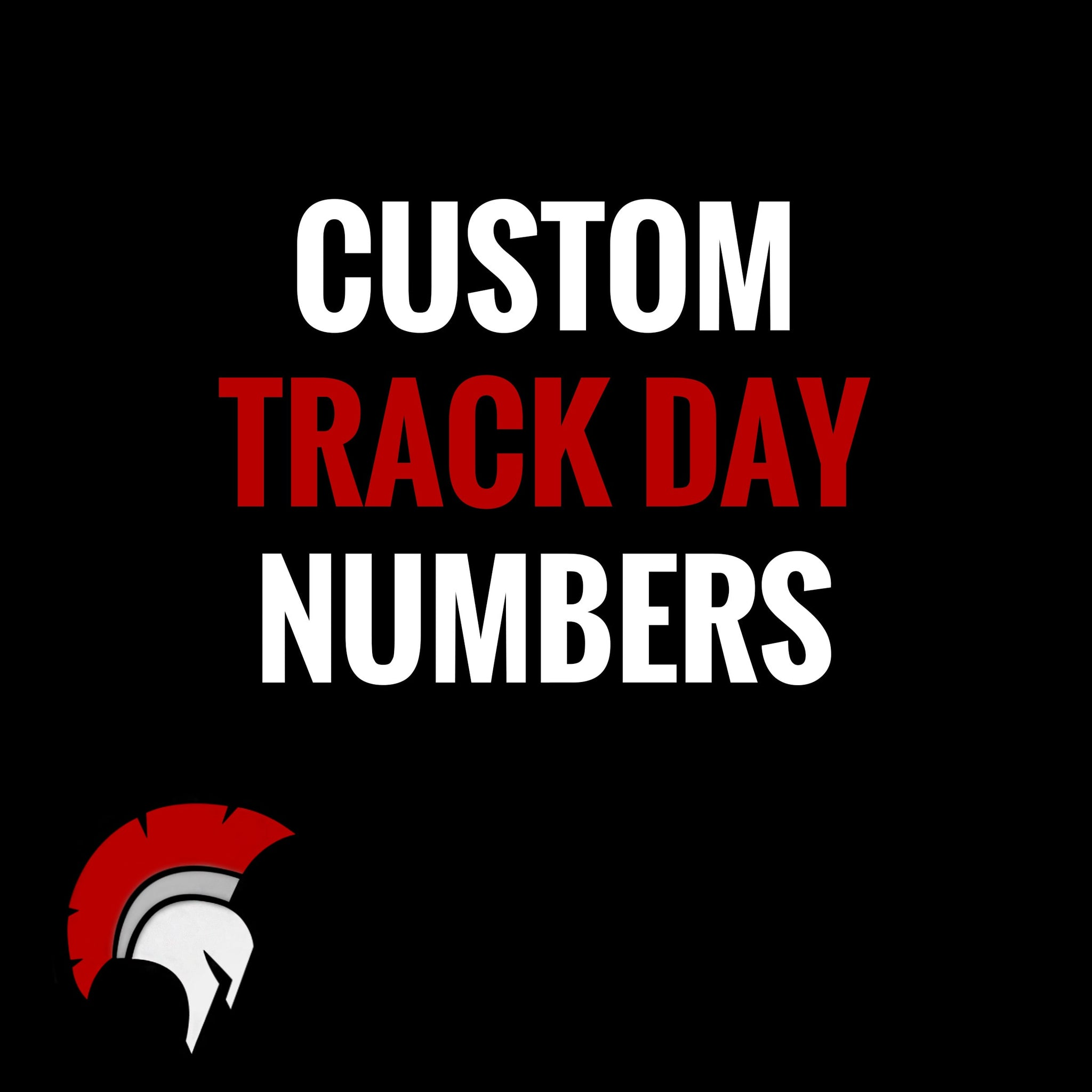 Removable vinyl number decals for track day