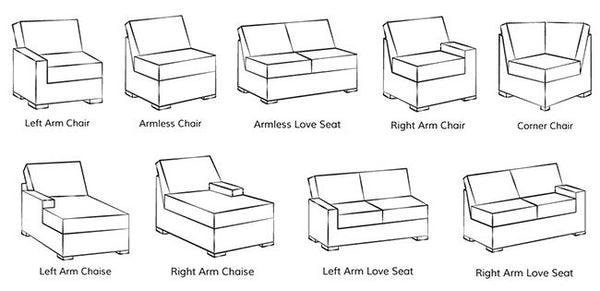 Bon Sectional Sofa Configurations