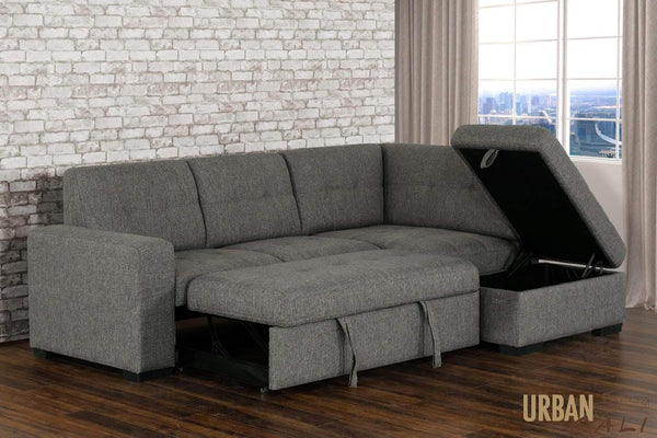 vincente sectional sleeper sofa bed