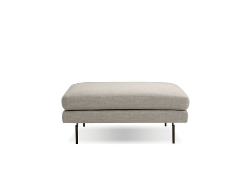 Mobital Tux Ottoman in Light Grey Fabric with Black Power Coated Steel