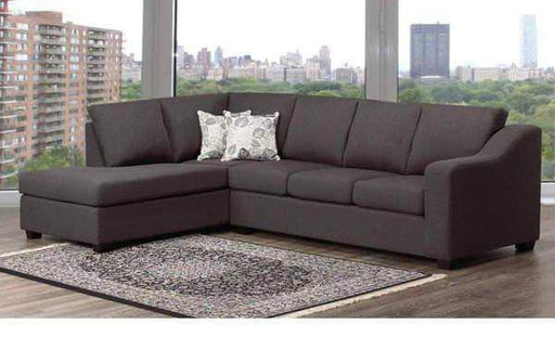 Aman Fabric Sectional LHF Chaise Florence Grey Fabric Sectional Sofa with Right or Left Facing Chaise
