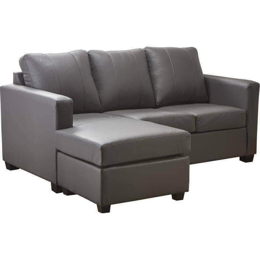 Aman Leather Sectional Victoria Leather Sectional with Chaise